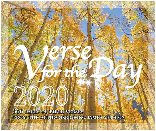 Verse for the Day - 2020 Bible Calendar Cover