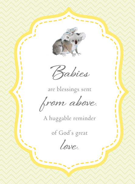 KJV Boxed Cards - Baby, Cute & Cuddly by Heartwarming Thoughts