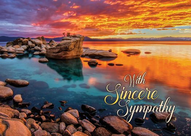 KJV Boxed Cards - Sympathy, Sunset Shores