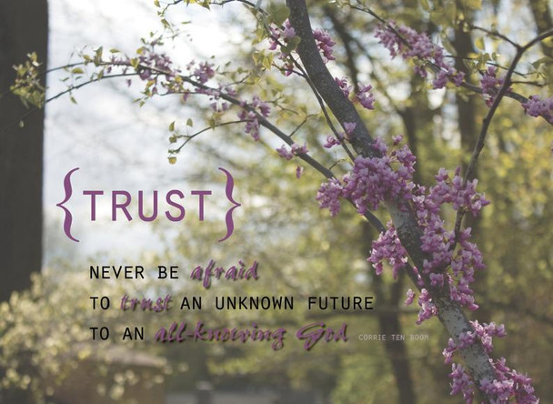 Never Be Afraid to Trust - Wall Canvas by Prints of Peace