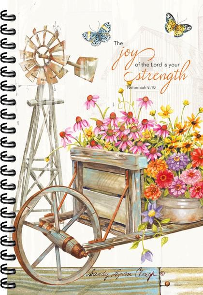 Garden Wheelbarrow- Journal - by Heartwarming Thoughts
