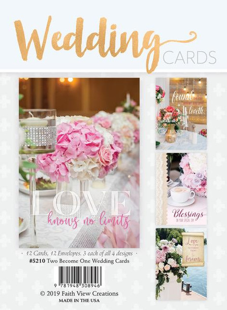 KJV Boxed Cards - Two become One - Wedding Cards