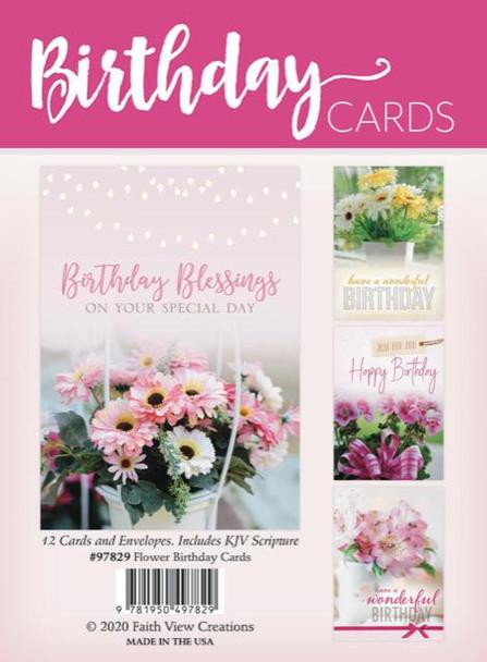 KJV Boxed Cards - Flower - Birthday Cards