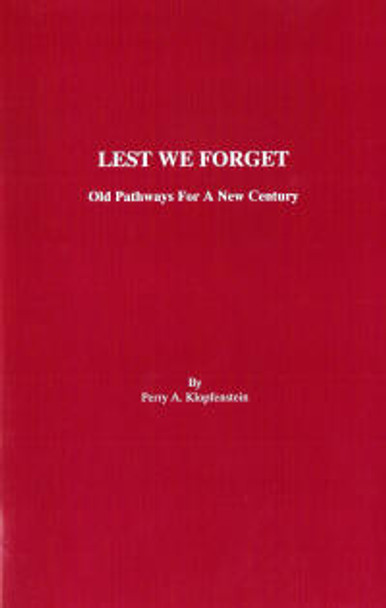 Lest We Forget - Book