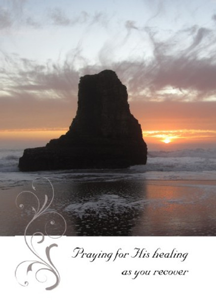 """Praying for His Healing as you Recover - 5"""" x 7"""" KJV Greeting Card"""