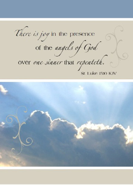 "Joy in the Presence of Angels - 5"" x 7"" KJV Greeting Card"