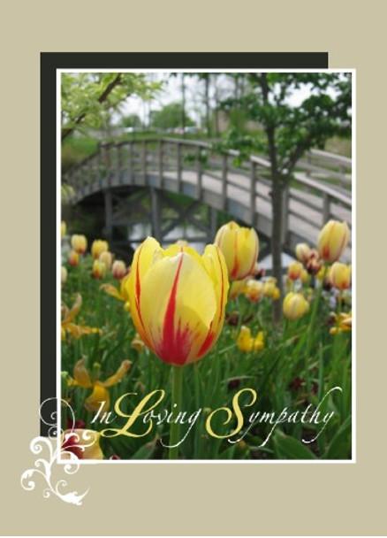 """In Loving Sympathy - 5"""" x 7"""" KJV Greeting Card"""