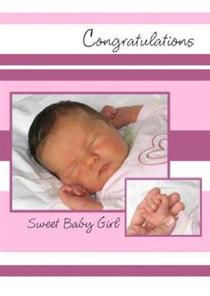 "A Sweet Baby Girl - 5"" x 7"" KJV Greeting Card"