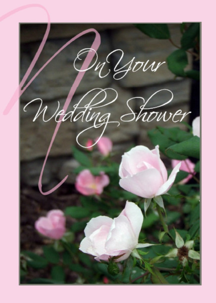 "On your Wedding Shower - 5"" x 7"" KJV Greeting Card"