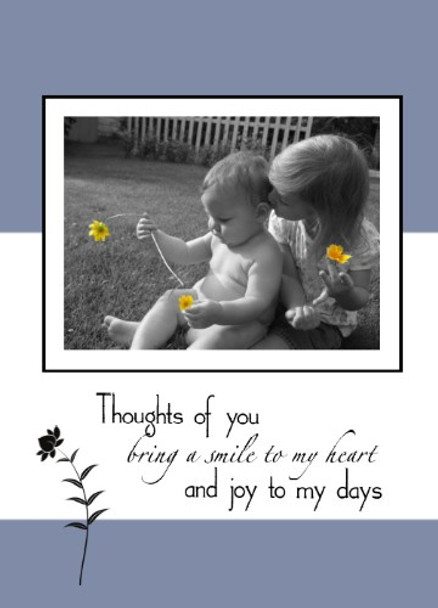 """Pure - Thinking of you - 5"""" x 7"""" KJV Greeting Card"""