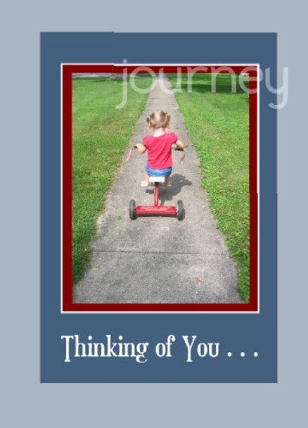 "Journey - Thinking of you - 5"" x 7"" KJV Greeting Card"