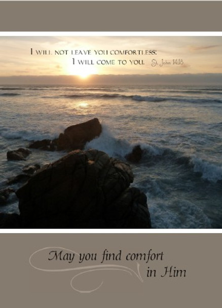 """May you find comfort in Him - 5"""" x 7"""" KJV Greeting Card"""