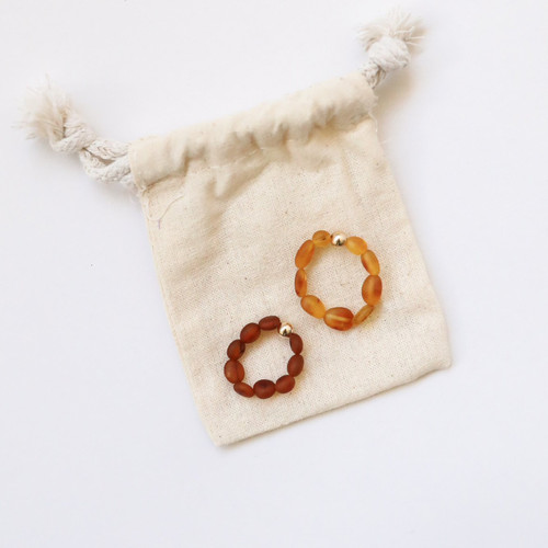 Raw Baltic Amber and 14k Gold Ring