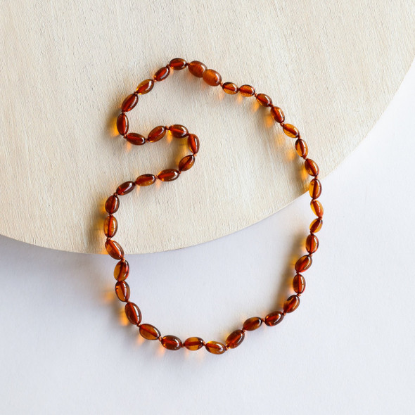 "Polished Cognac 21"" Amber Necklace"