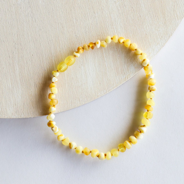 "Raw Butterscotch 12"" Amber Necklace"