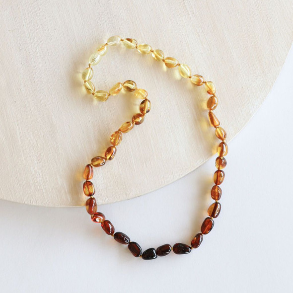 "Polished Ombre 21"" Amber Necklace"