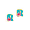 """Cutie Initial Stud Earrings """"R"""" from Girl Nation"""