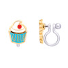 Classic Cupcake Cutie Clip On Earrings by Girl Nation