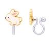 Glitter Rabbit Cutie Clip On Earrings by Girl Nation