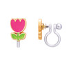 Tiny Tulip Cutie Clip-On Earrings from Girl Nation