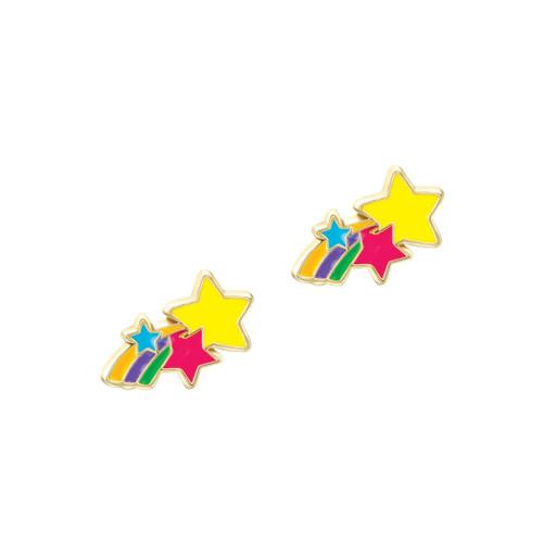 Shooting Star Cutie Enamel Stud Earrings by Girl Nation