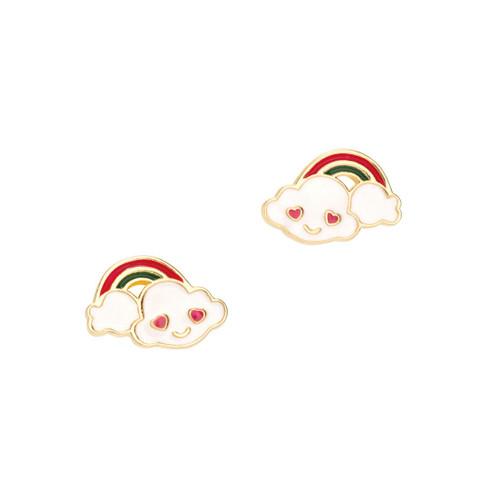 Cloud Luvs Rainbow Cutie Enamel Stud Earrings by Girl Nation