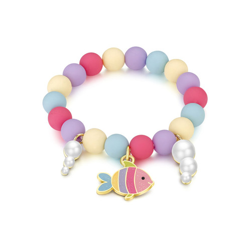 Rainbow Fish Charming Whimsy Bracelet by Girl Nation
