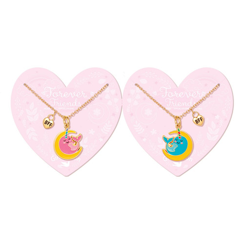 Team Magic Narwhal Friendship Necklaces by Girl Nation