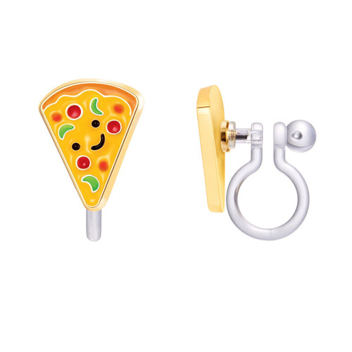 Pizza Pizzazz Cutie Clip On Earrings by Girl Nation
