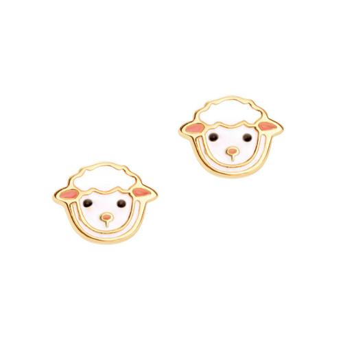 Lovely Lamb Cutie Enamel Stud Earrings by Girl Nation