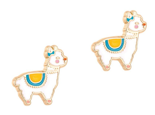 Llama Cutie Enamel Stud Earrings by Girl Nation