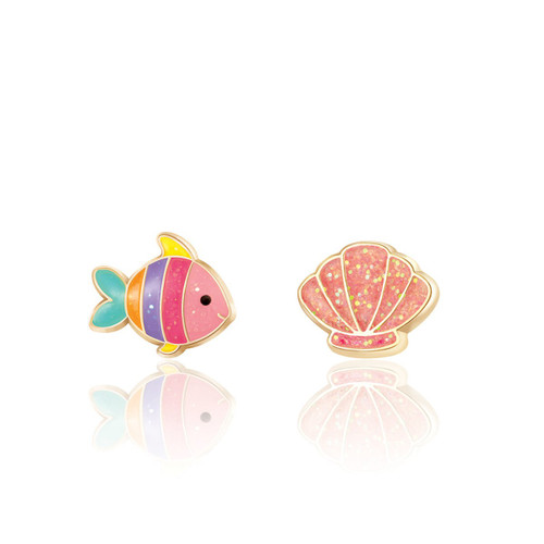 The Perfect Pair- Under the Sea Cutie Enamel Stud Earrings by Girl Nation