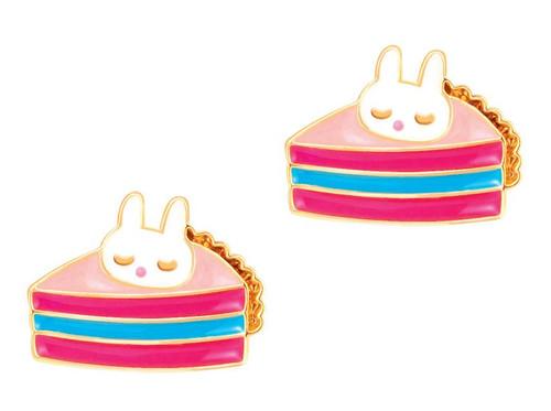 Cutie Pie Enamel Stud Earrings by Girl Nation