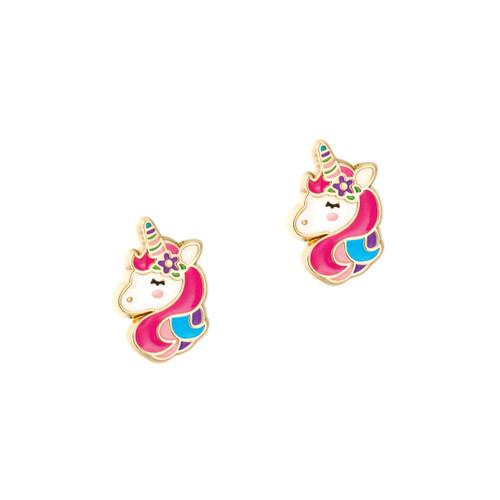 Unicorn Dreams Cutie Enamel Stud Earrings by Girl Nation
