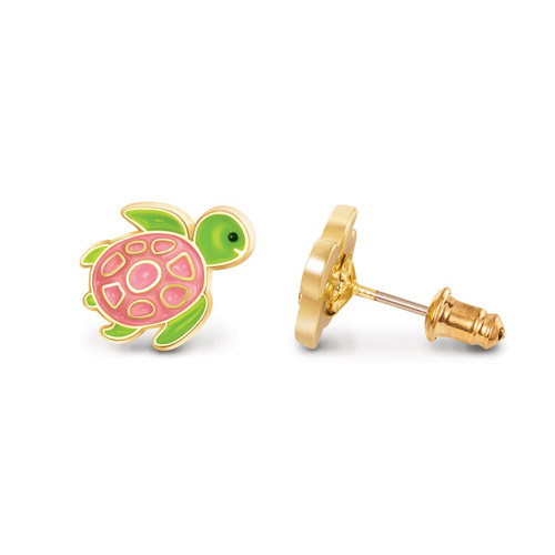 Turtle-y Awesome Cutie Enamel Stud Earrings by Girl Nation