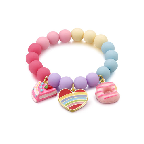 Charming Whimsy Rainbow Heart Bracelet by Girl Nation