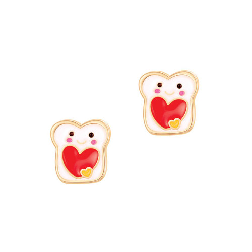 You're Totally my Jam Toast Earrings by Girl Nation