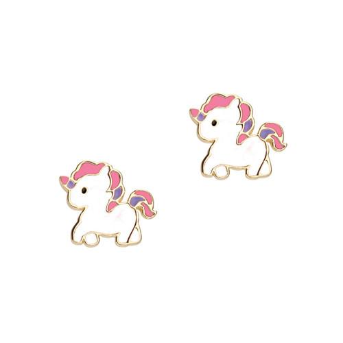 Magical Unicorn Cutie Enamel Stud Earrings by Girl Nation