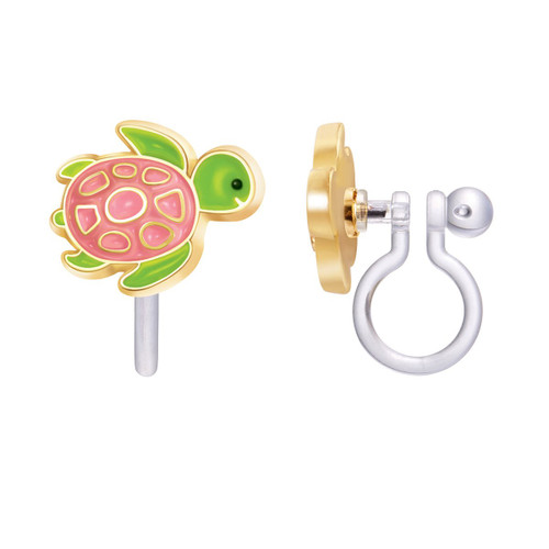 Turtle-y Awesome Cutie Clip On Earrings by Girl Nation