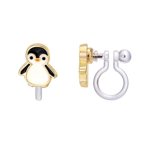 Personable Penguin Cutie Clip On Earrings by Girl Nation