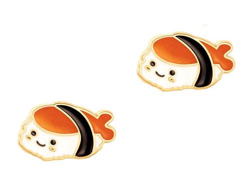 Sushi Time Cutie Enamel Stud Earrings by Girl Nation