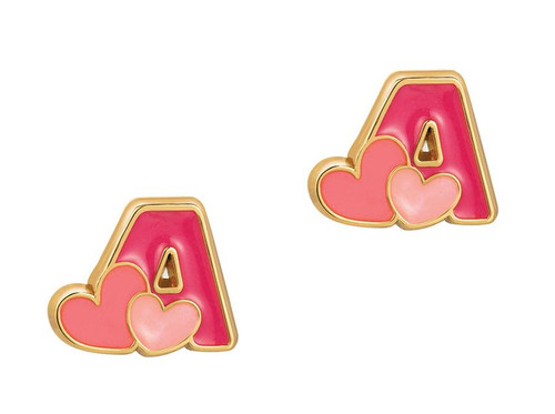 """Cutie Initial Stud Earrings """"A"""" by Girl Nation"""