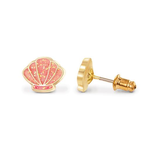 Shell-abrate Cutie Enamel Stud Earrings by Girl Nation