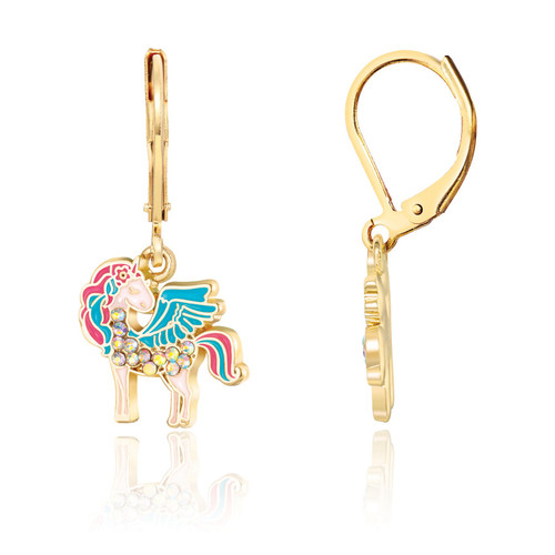 Crystal Unicorn Magic Lever Back Earrings by Girl Nation