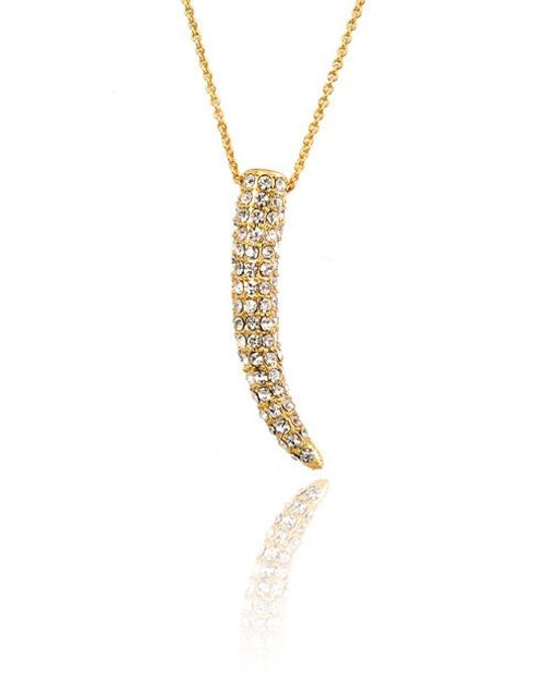 Crystal Tusk Necklace