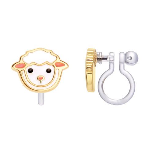 Lovely Lamb Cutie Clip On Earrings by Girl Nation