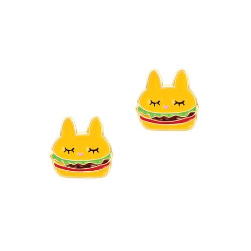 Burger Cutie Enamel Stud Earrings by Girl Nation