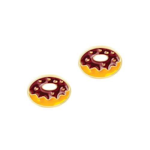 Yummy Donut Cutie Enamel Stud Earrings by Girl Nation
