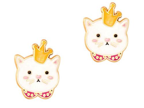 Kitty Princess Cutie Enamel Stud Earrings by Girl Nation