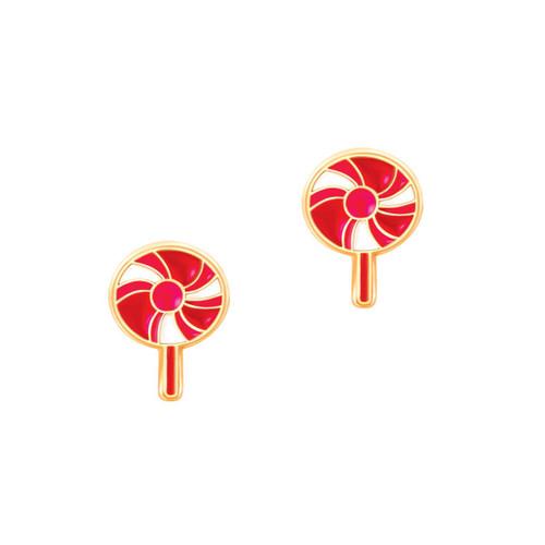 Lovely Lollipop Cutie Enamel Stud Earrings by Girl Nation